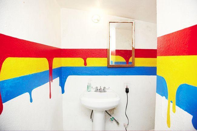 Как покрасить стены в ванной в домашних